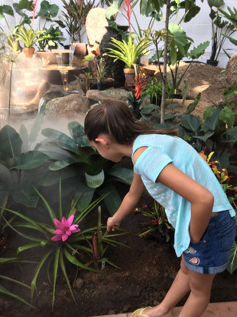 Botanic Interior with Girl