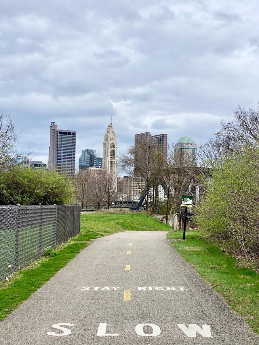 Bike Trail and Columbus Skyline