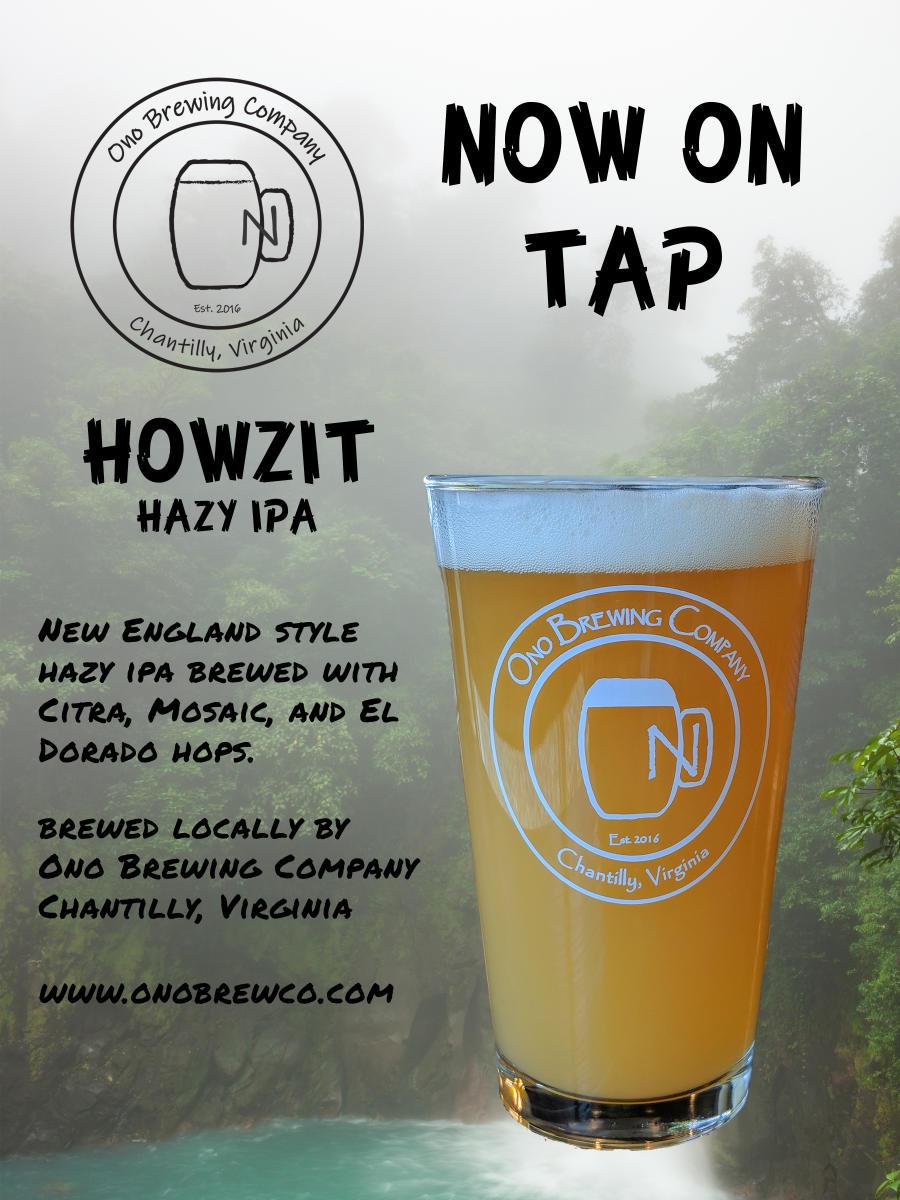 Ono Brewing Company's Howzit Hazy IPA