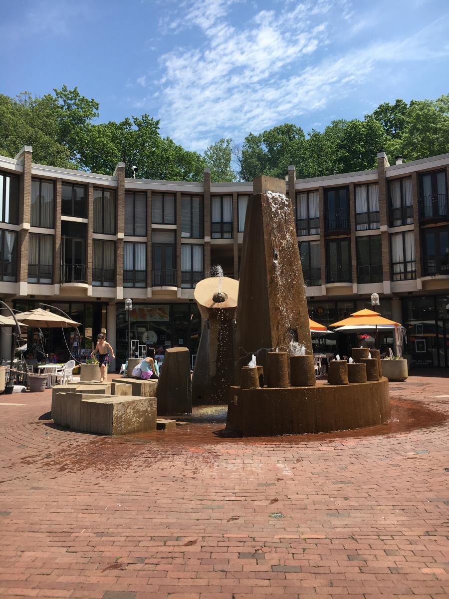 """Reston public art - Lake Anne Village Center """"Plaza Fountain"""""""