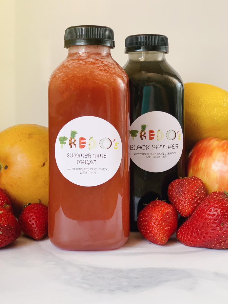 Summertime Magic & Black Panther are wo of the best-selling juice flavors from Fredo's Juicery.