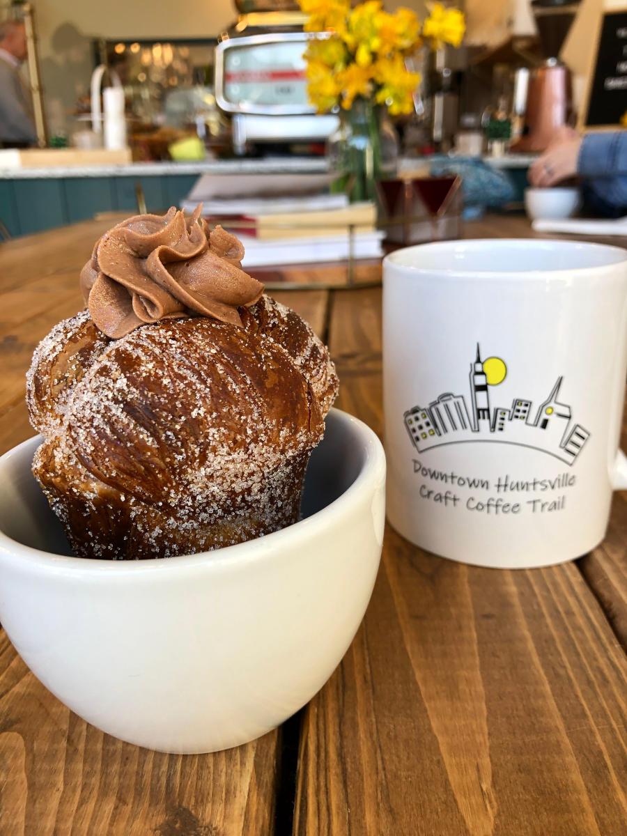 Moon Bakeshop Coffee Tail Cruffin