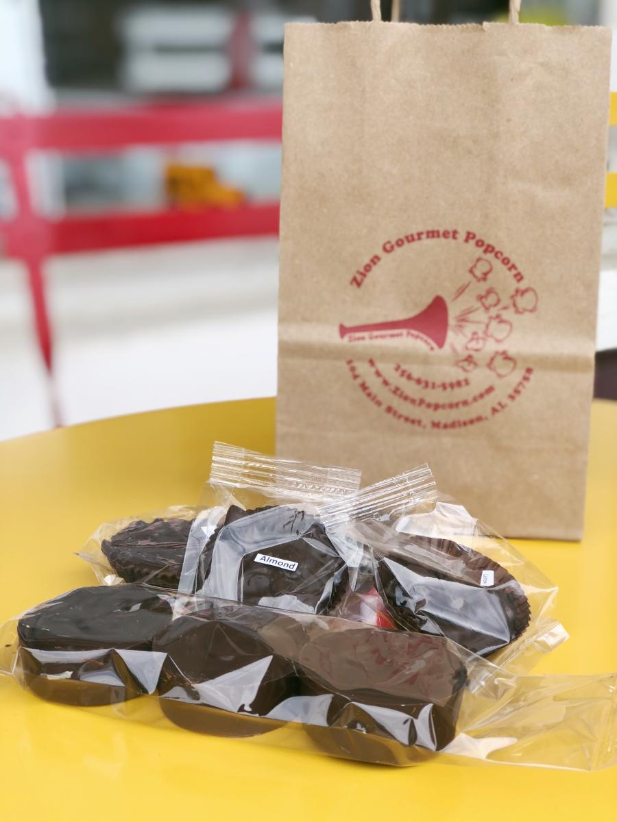 Fresh popcorn & hand-crafted chocolate treats are king at Zion Gourmet Popcorn in Huntsville, AL.