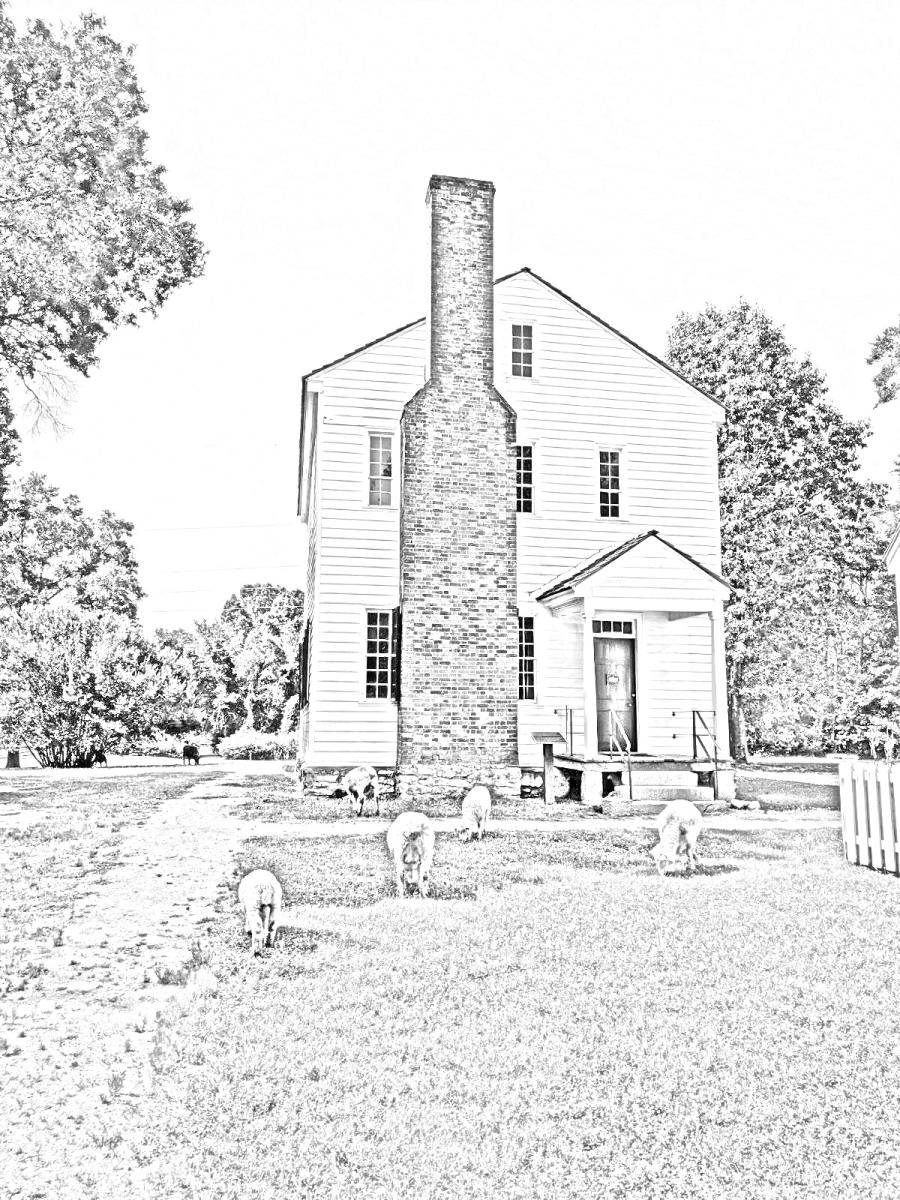 Historic Latta Plantation Coloring Page
