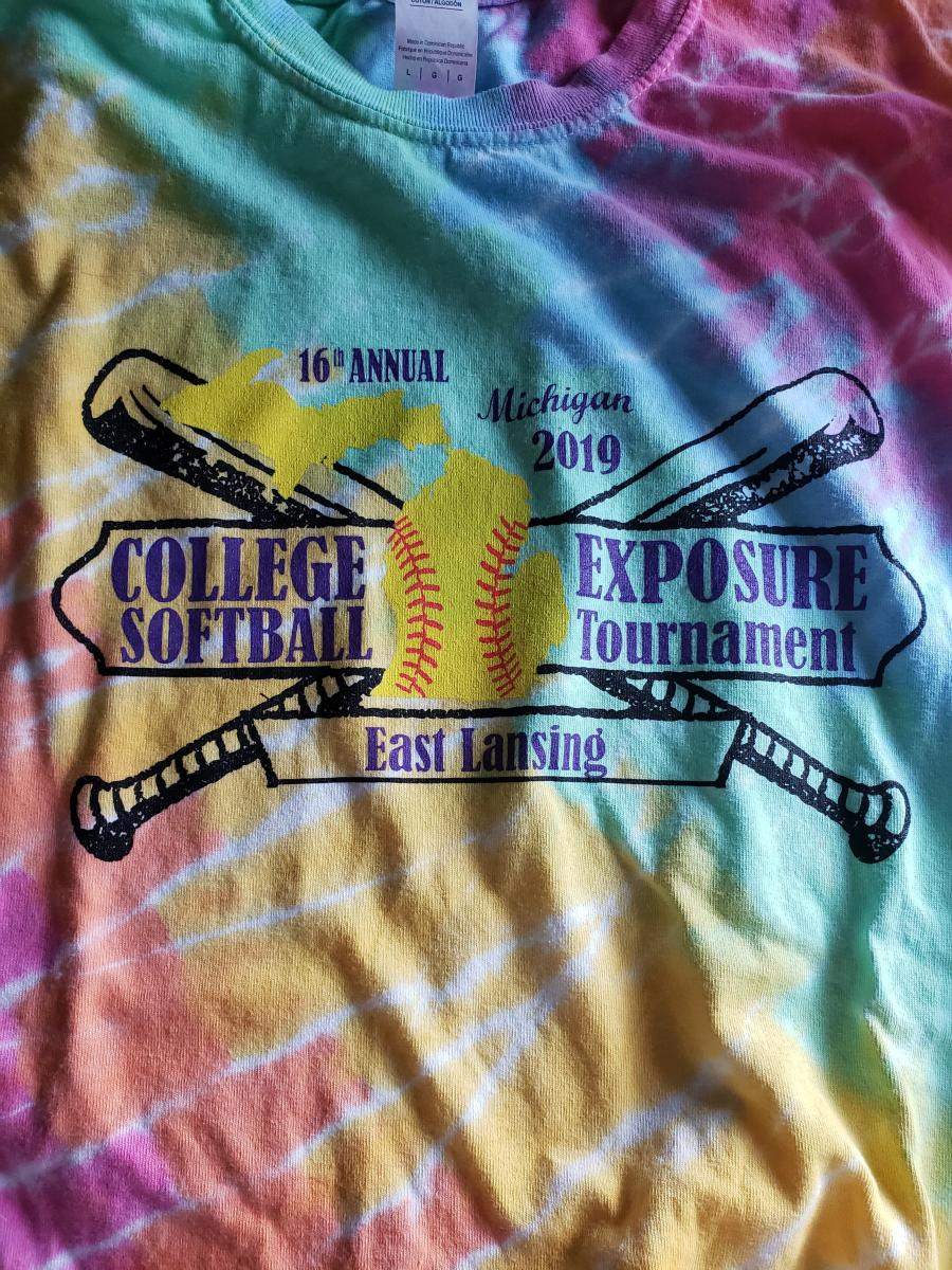 college exposure softball tournament 2019 t-shirt