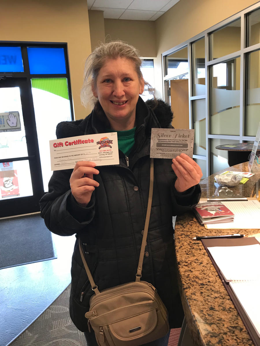 Sue W. Wins Silver Ticket - BATYOT 2019