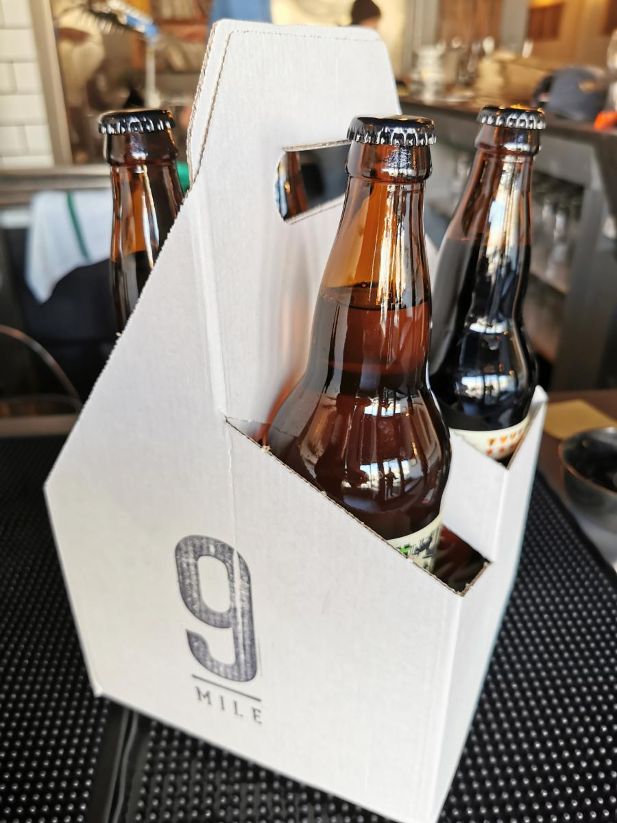 Beer to go from 9 Mile Legacy in Saskatoon, SK