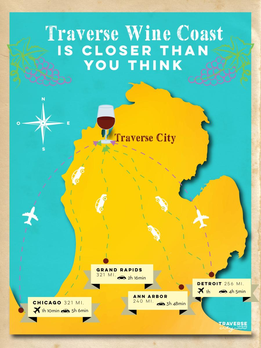 Traverse Wine Coast Map
