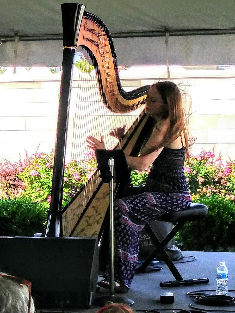 Harpist Erin Hill