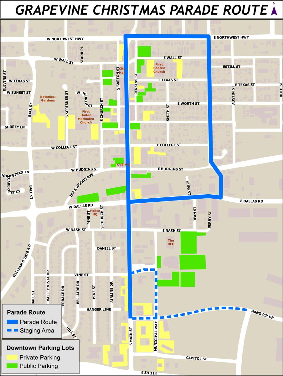 Parade of Lights Route