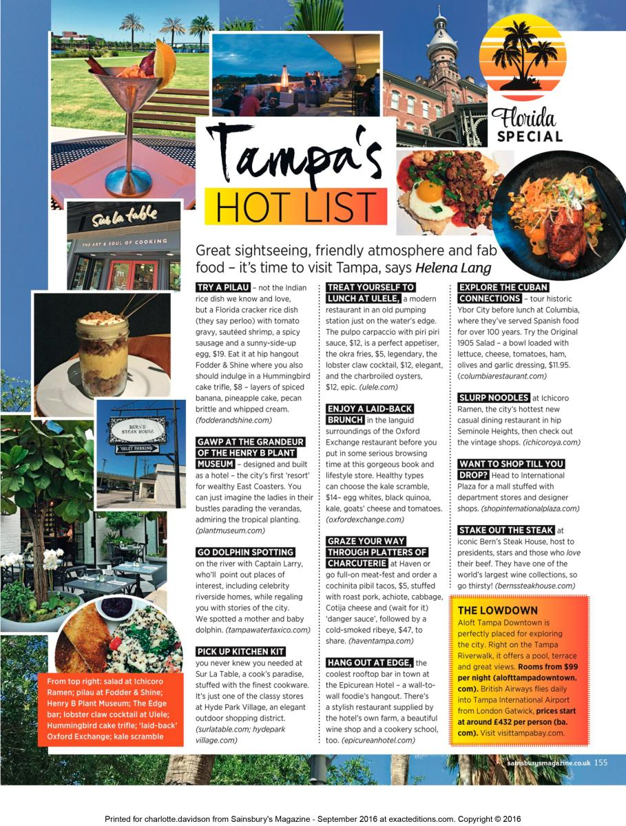Tampa's Hot List