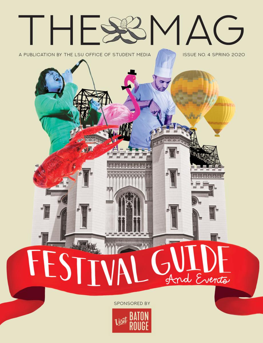 An image of the 2020 Baton Rouge Festival and Event Guide, published by LSU.