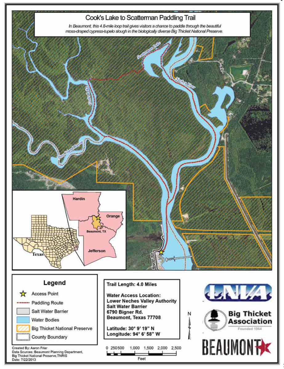 Cooks Lake Paddle Trail Map
