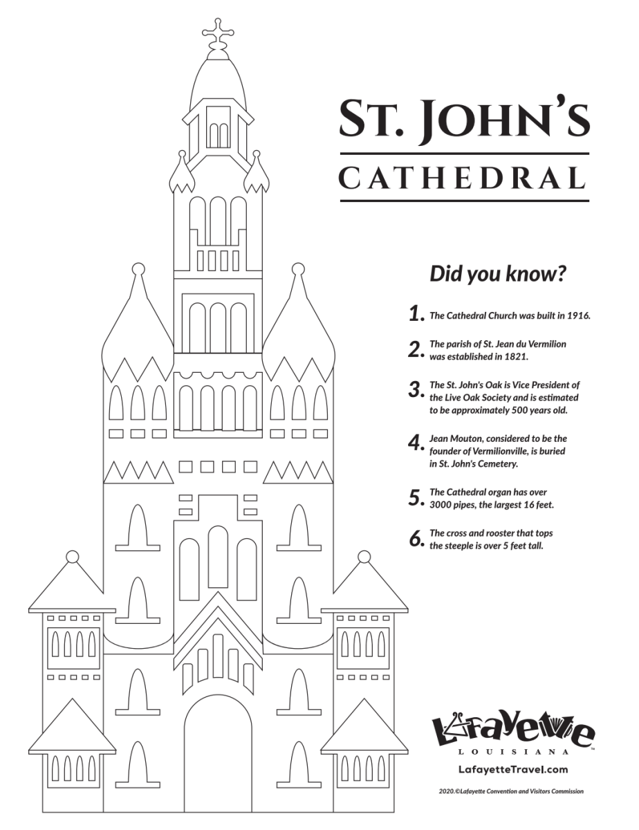 Cathedral of St. John Coloring Sheet