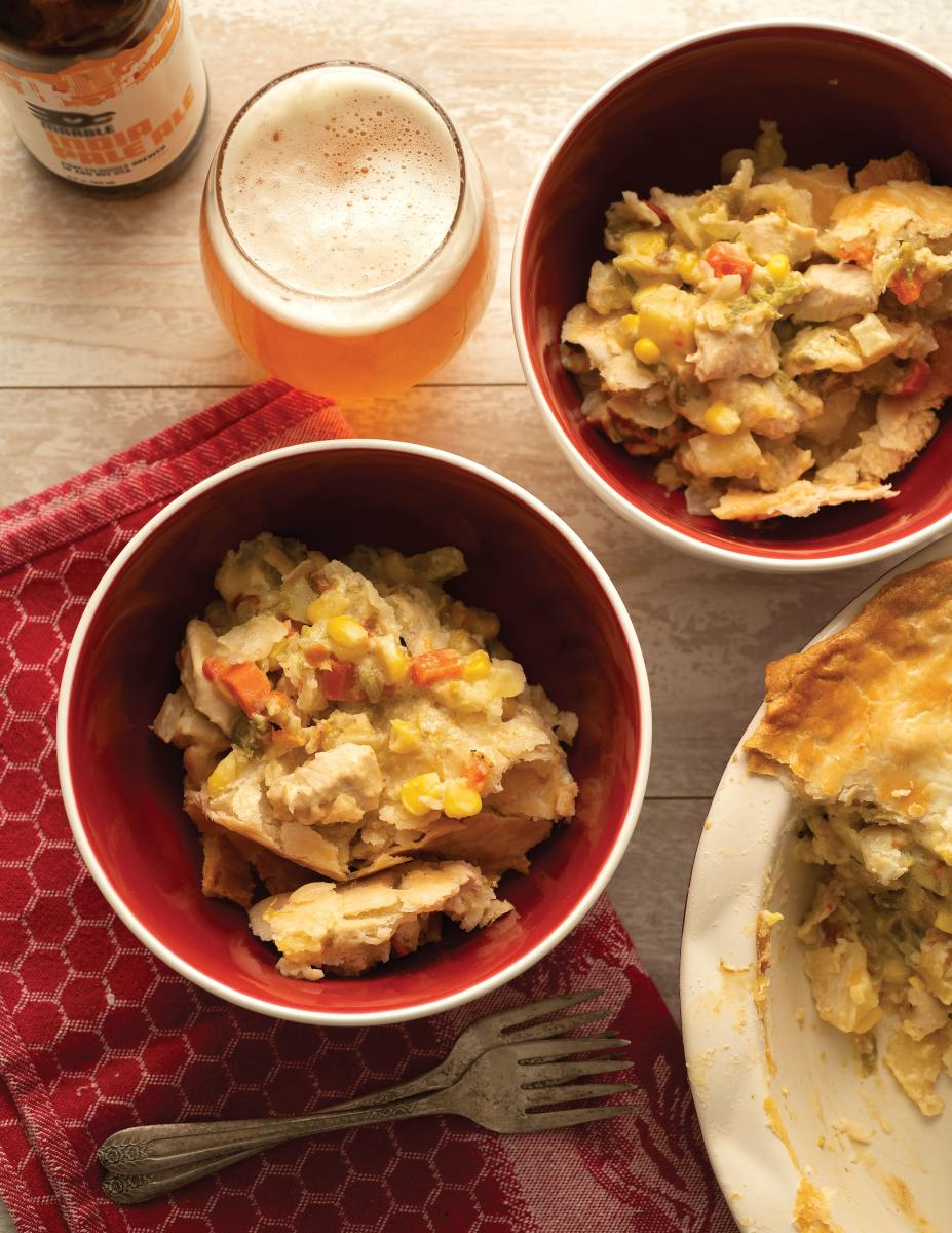 Green Chile Chicken Pot Pie