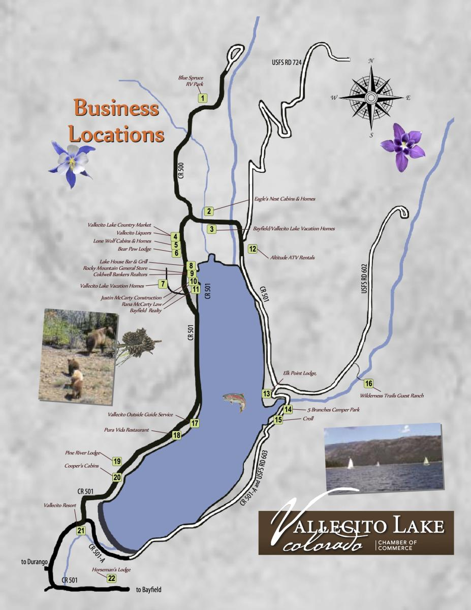 Vallecito Lake Map