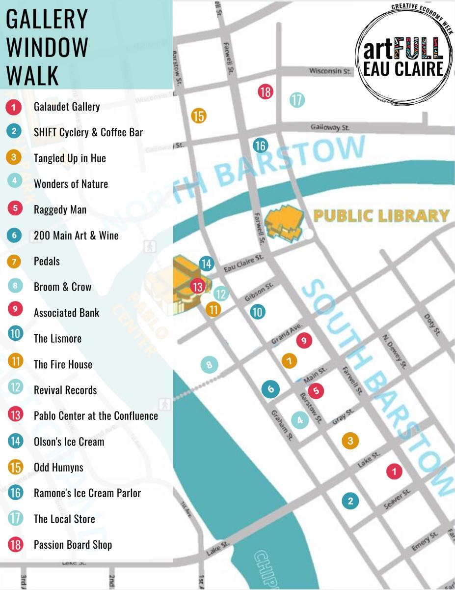 Gallery Window Walk Map - Creative Economy Week