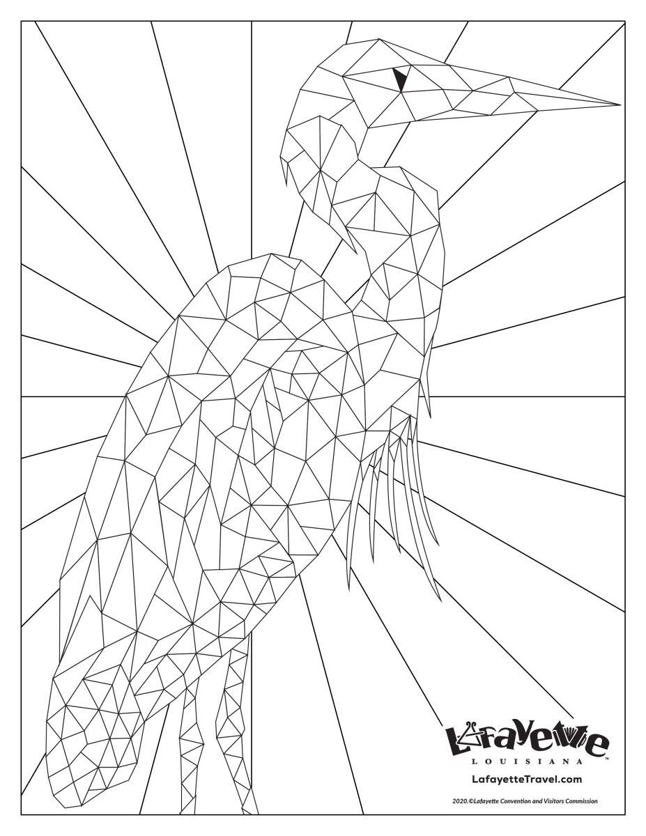 Egret Coloring Sheet
