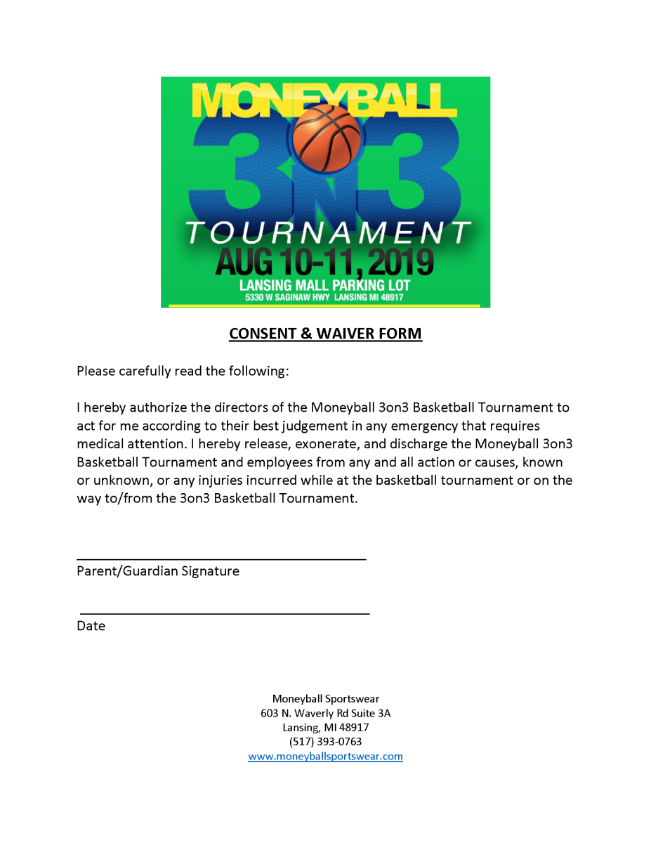 moneyball 3on3 consent waiver 2019