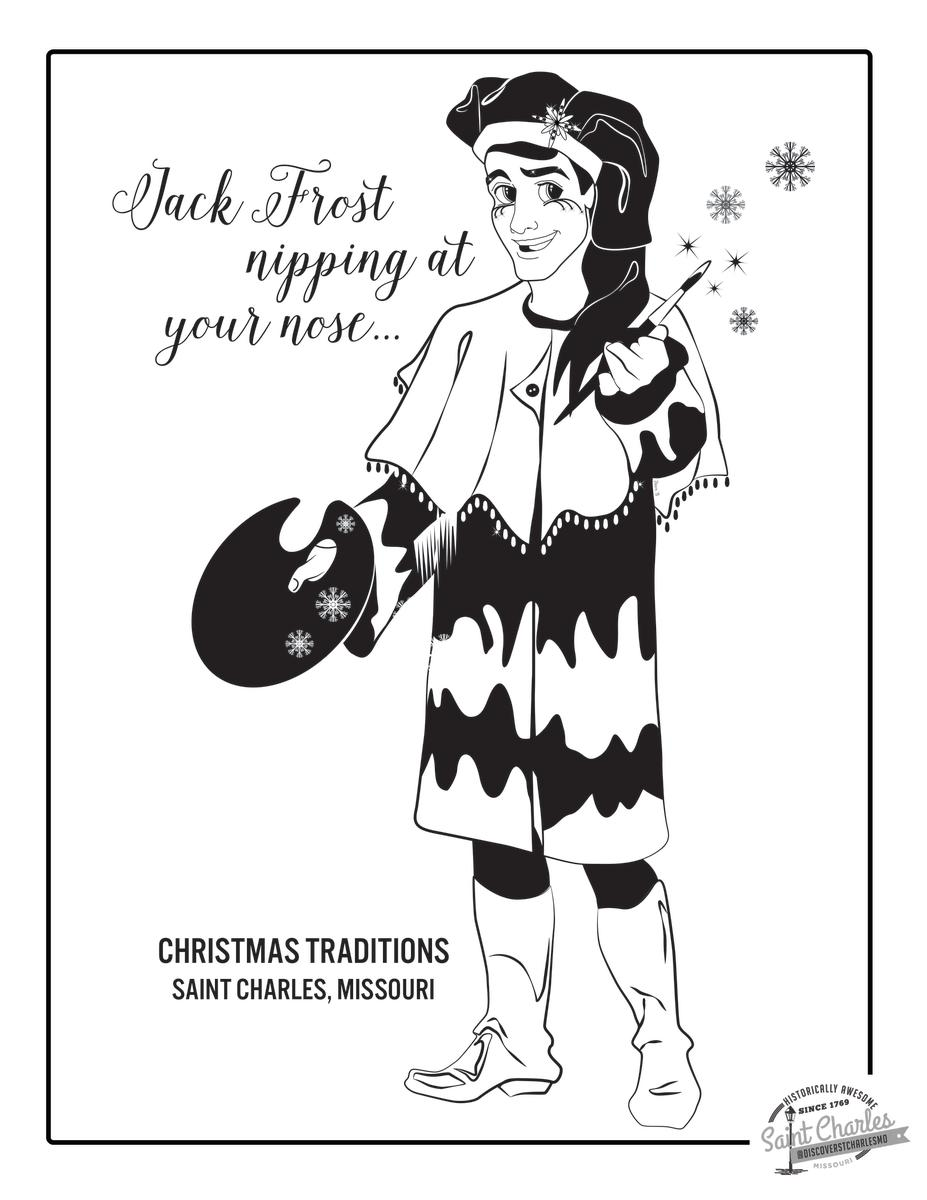 Jack Frost Coloring Sheet
