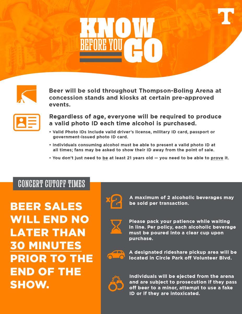 Concert Beer Info