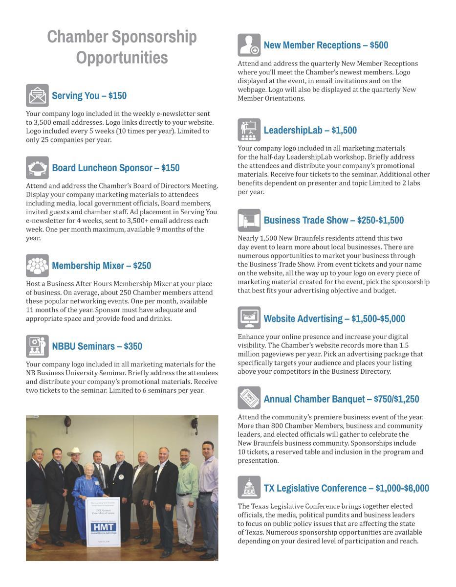 Chamber Sponsorship Opportunities