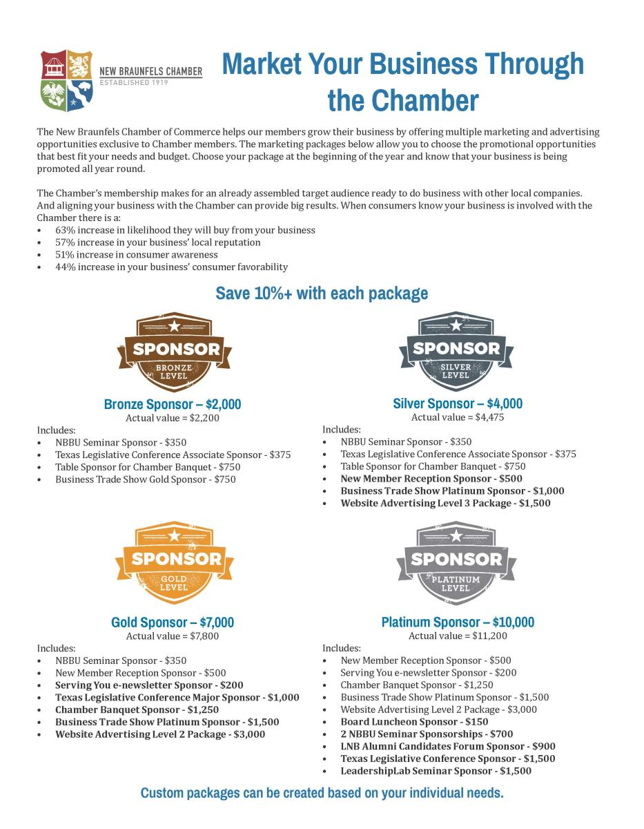 Chamber Sponsorship Packages