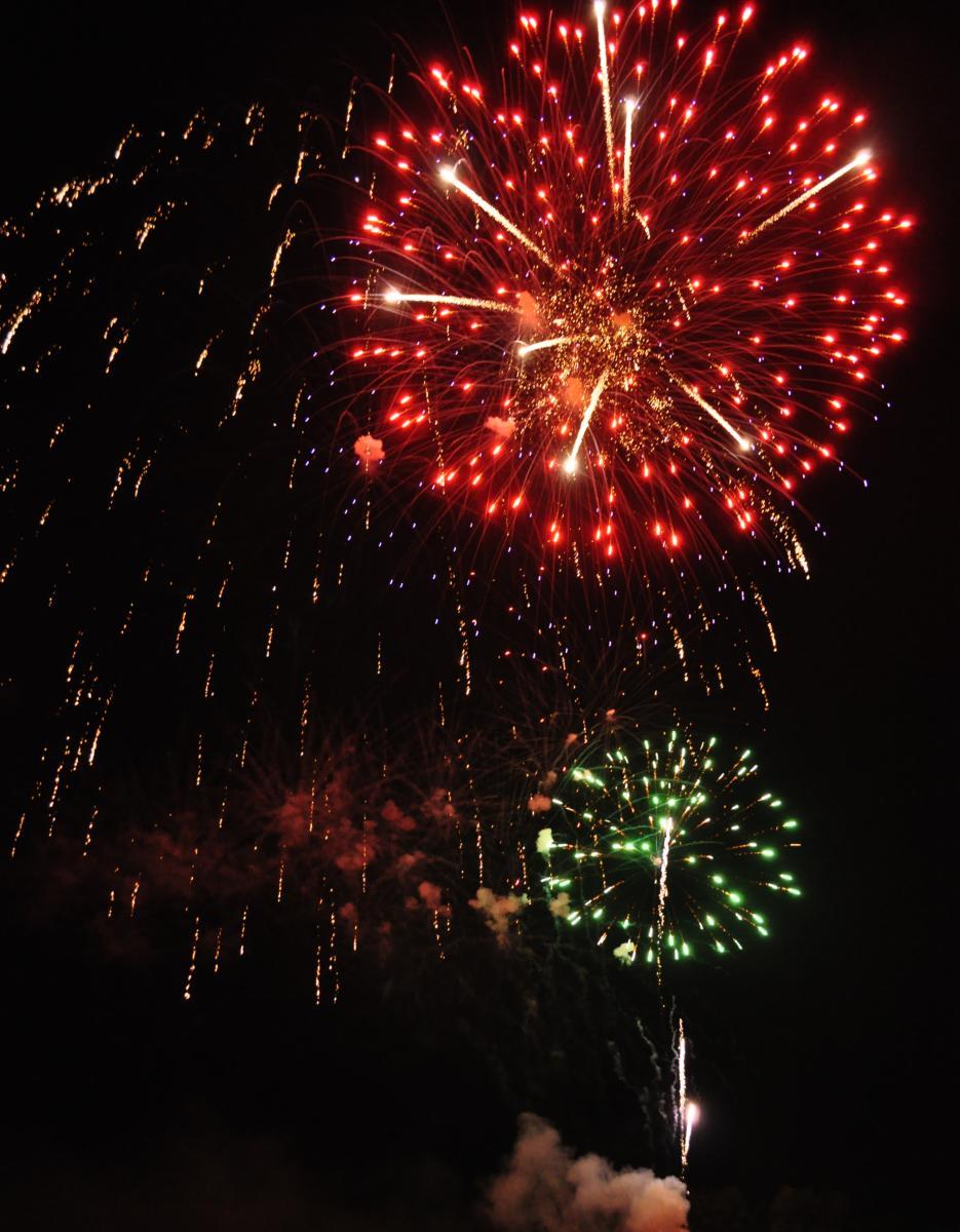 Fireworks on Lake Norman