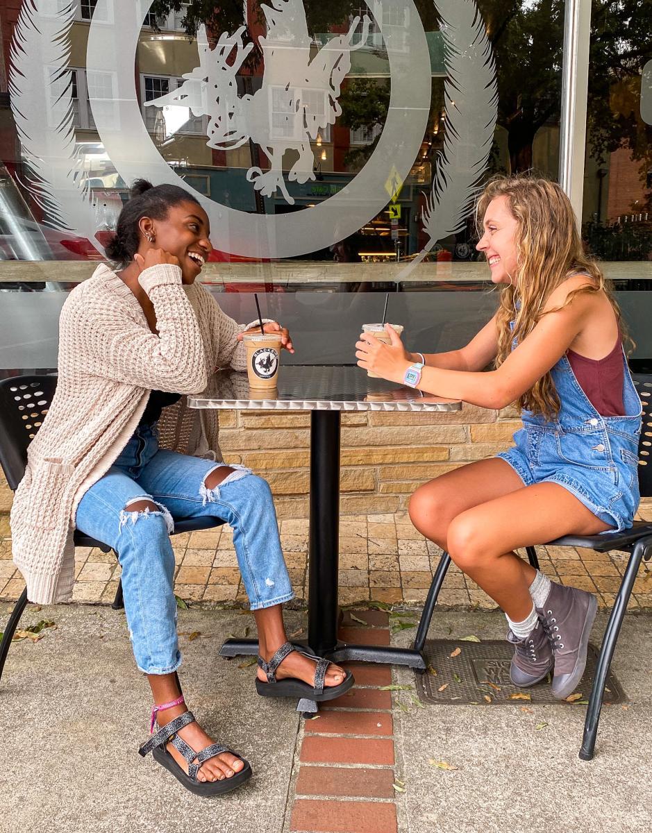 Blackbird coffee outdoors