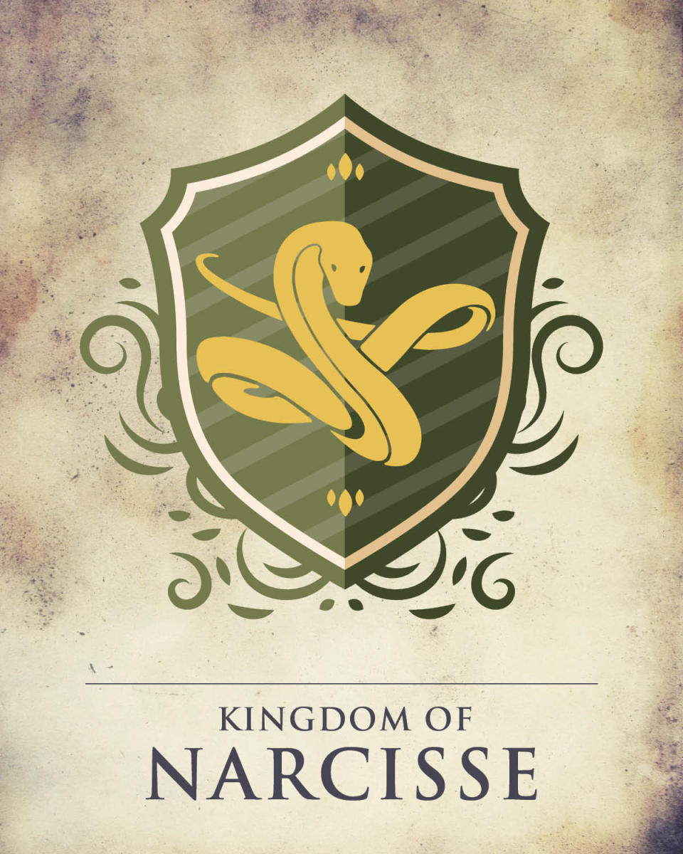 Game of Thrones Manitoba crest depicting a yellow snake on a green background.