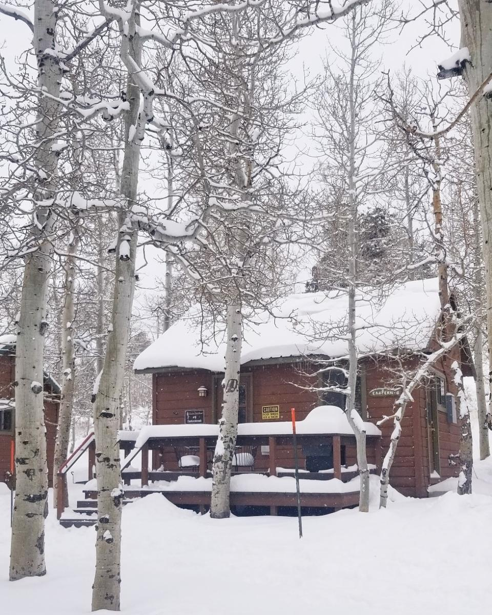 Convict Lake Resort winter cabin