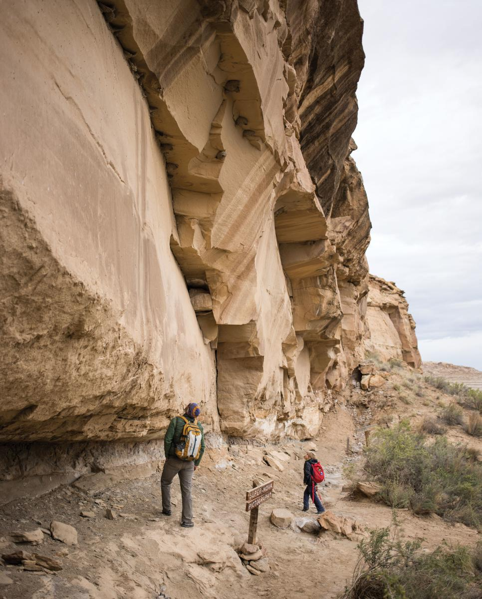 Hikers on a Chaco trail.
