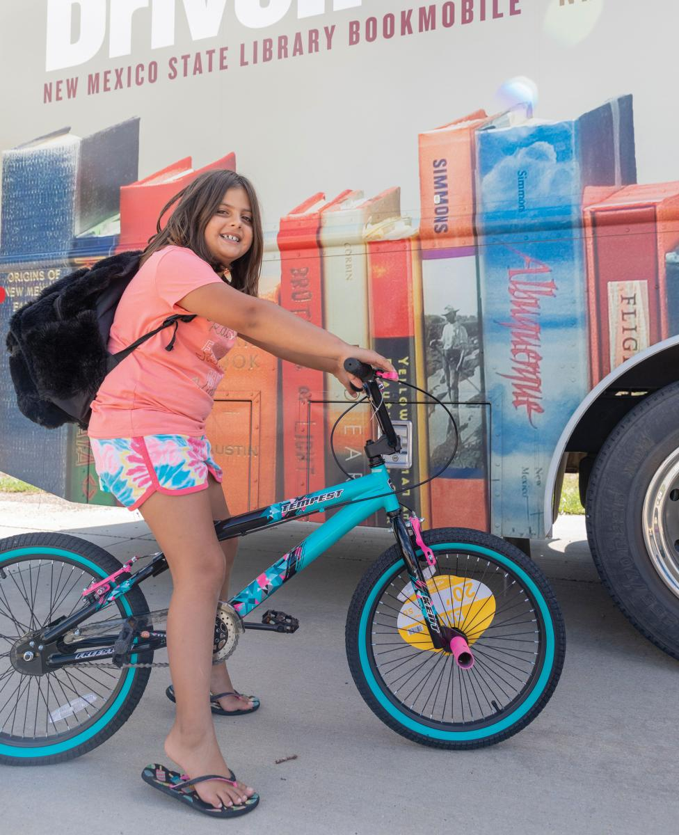 Sofia Green on her new bike in Des Moines.
