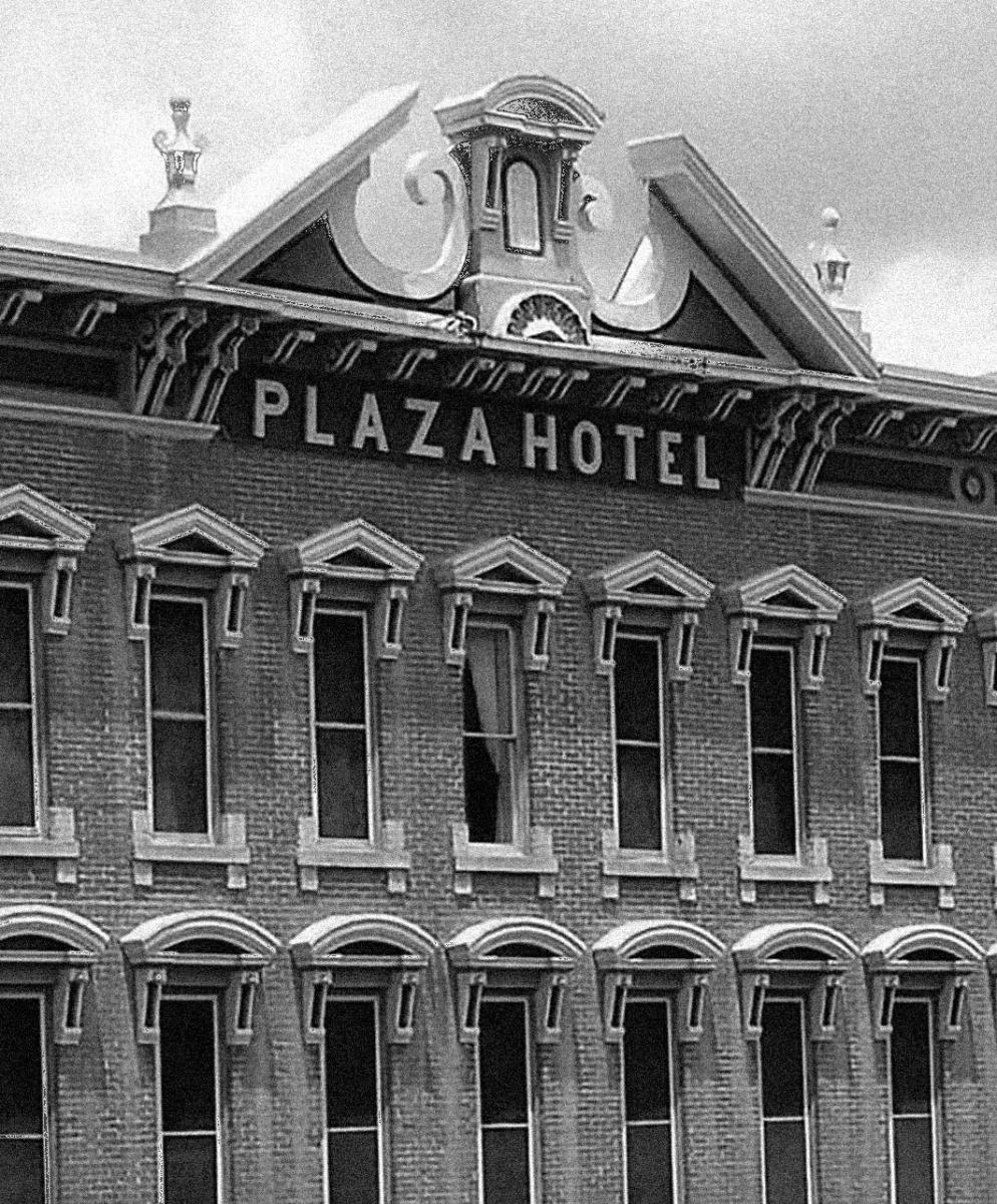Exterior of the Plaza Hotel in Las Vegas, NM