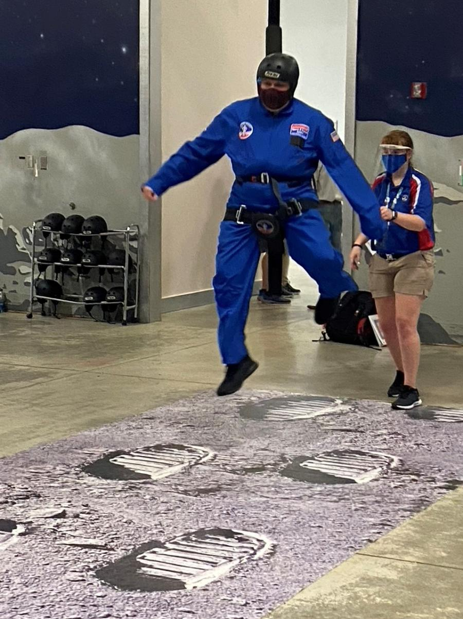 David Space Camp Space Walk