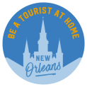 Be a Tourist Logo Blue