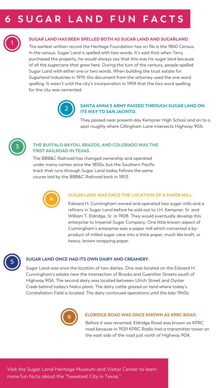 Sugar Land Fun Facts