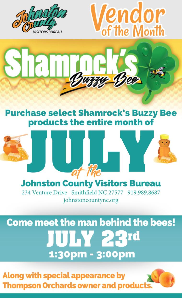 Vendor of the Month Poster July