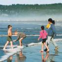 Kids on Clam Beach
