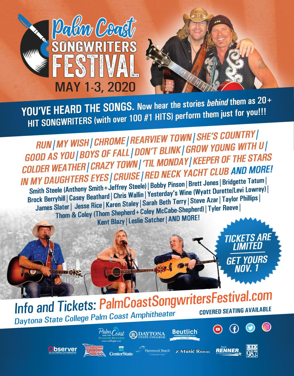 Palm Coast Songwriters Festival Flyer