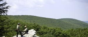 Hikers at Pole Steeple