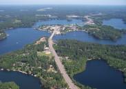 Minocqua Lake aerial