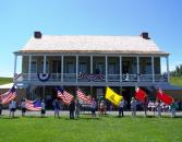 Children will learn the meaningful history behind the many flags displayed at Fort Ontario State Historic Site at the June 14 Flag Day observance.