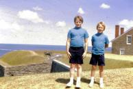 Two brothers enjoying a day at Fort Ontario in 1971