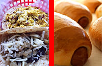 Breakfast tacos and Kolaches from Tacos a Go Go and Shipley's in Houston