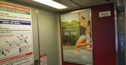 2017 Summer Marketing Campaign -  Transit - NJT - Interior Rail Card - Pocono Mountains Visitors Bureau