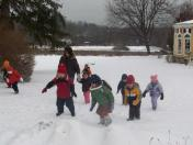 The Young Naturalists enjoy the outdoors every day.