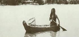Native American in Boat