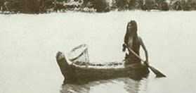 Native American in Boat