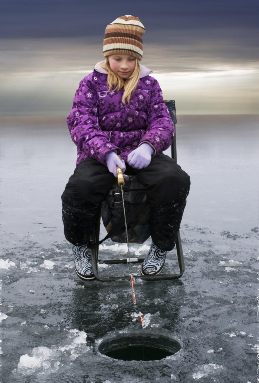 Ice Fishing-Little Girl